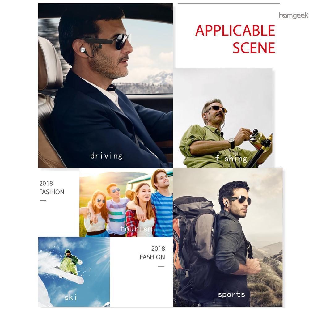 H&G A8 Smart Bluetooth Headset Sunglasses Men Women Polarized Sun Glasses Driving Sports Glasses Music Calling Glasses