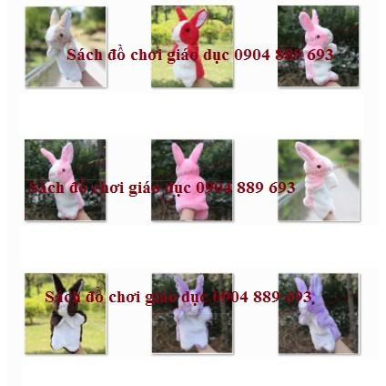 Rối bàn tay hình con thỏ hồng, tím, trắng, vàng, nâu, đỏ, be,... (hình các con vật)