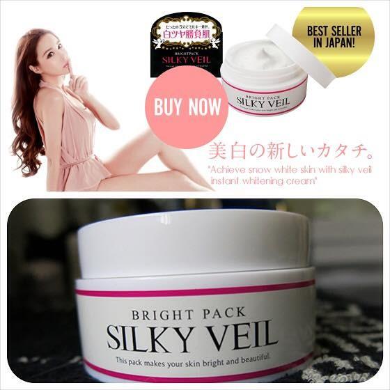 Kem dưỡng trắng da SILKY VEIL của Nhật