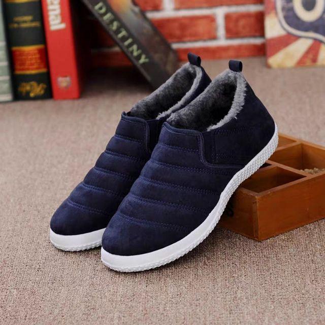 Giày nam lót lông mùa đông