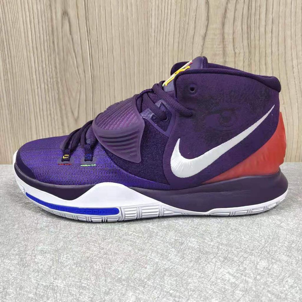 Nike Kyrie 6 Giày bóng rổ màu tím đậm cao