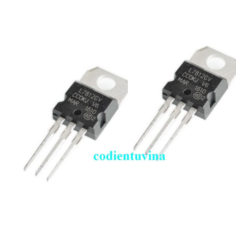 IC ổn áp L7812CV DIP TO-220 12V/1.5A (bịch 4 cái)