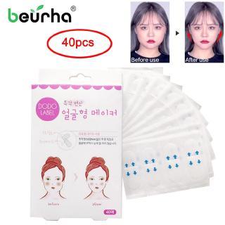 Beurha 40pcs Box V Slim Facial Sticker Face Artifact Invisible Sticker Makeup Face Lift Tool thumbnail