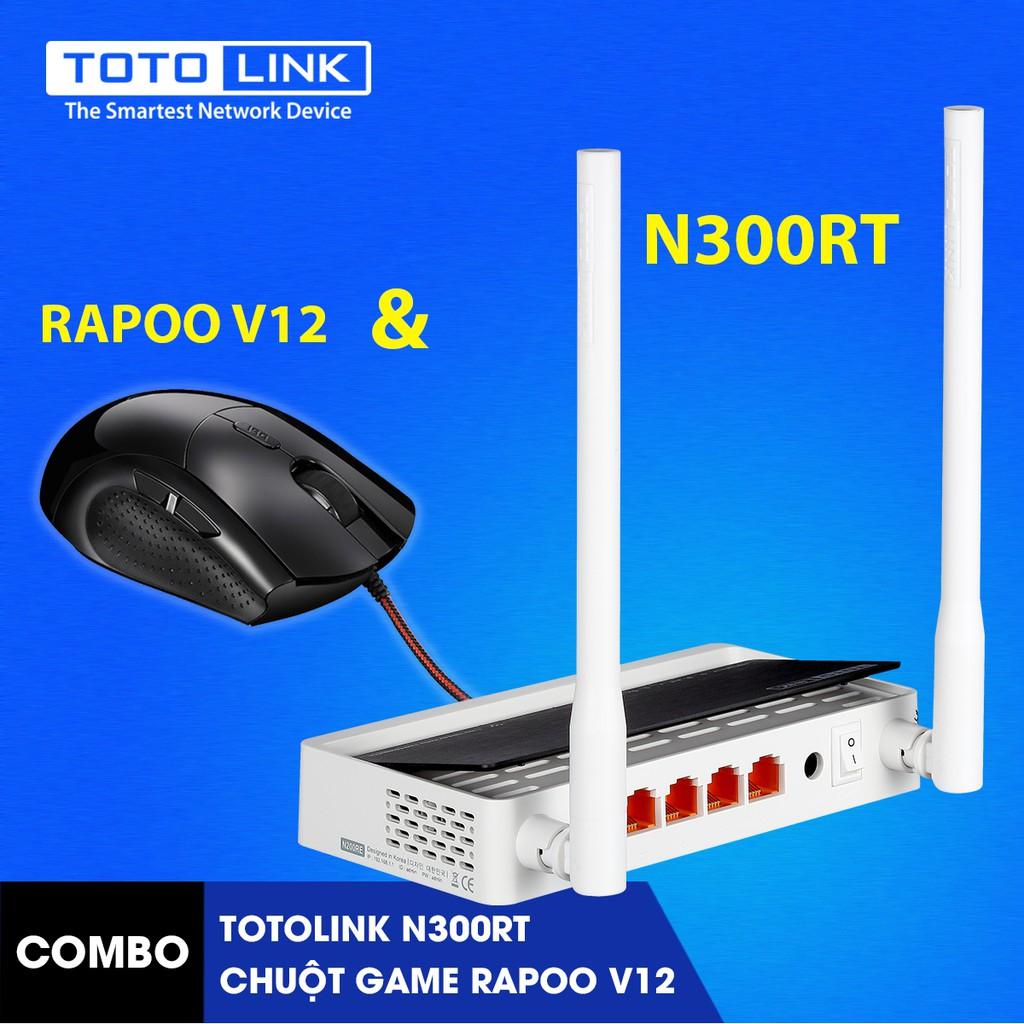[FREE SHIP] Bộ Phát WiFi Router WiFi TOTOLINK N300RT kèm chuột game Rapoo V12 - 9925630 , 396729553 , 322_396729553 , 478000 , FREE-SHIP-Bo-Phat-WiFi-Router-WiFi-TOTOLINK-N300RT-kem-chuot-game-Rapoo-V12-322_396729553 , shopee.vn , [FREE SHIP] Bộ Phát WiFi Router WiFi TOTOLINK N300RT kèm chuột game Rapoo V12