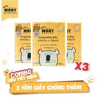 03 Yếm giấy chống thấm Moby (10 chiếc gói)