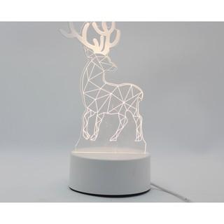 Đèn led 3D hình con hươu