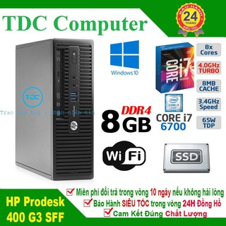Case máy tính để bàn HP ProDesk 400 G3 SFF main H110, cpu core i7 6700, ram 8GB, SSD 240GB. Hàng Nhập Khẩu.