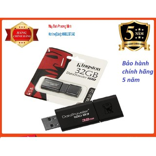 [Mã ELFLASH5 giảm 20K đơn 50K] USB Kingston 32GB USB 3.0 - Hàng Chính Hãng bảo hành 5 năm