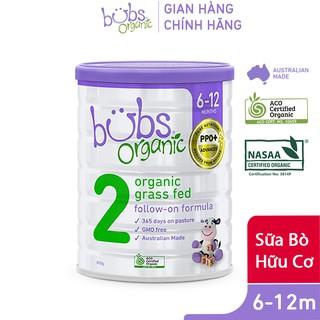 Sữa Bột Bò Hữu Cơ Bubs Organic Số 2 800g
