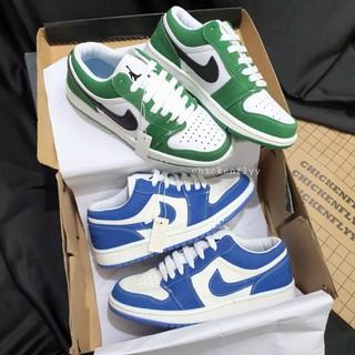 ẢNH THẬT+ Kèm Hộp Bất Kì JD1 THẤP XANH LÁ + XANH DƯƠNG NỈ Giày Thể Thao Nữ Giày Thể Thao Nam Giày Sneaker GÀ BAY thumbnail