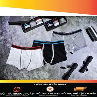 QLD001 Quần lót nam boxer dáng đùi cao cấp (1 hộp 3 cái) – Quần sịp nam cao cấp hàng VNXK [ Hàng NÉT Căng]