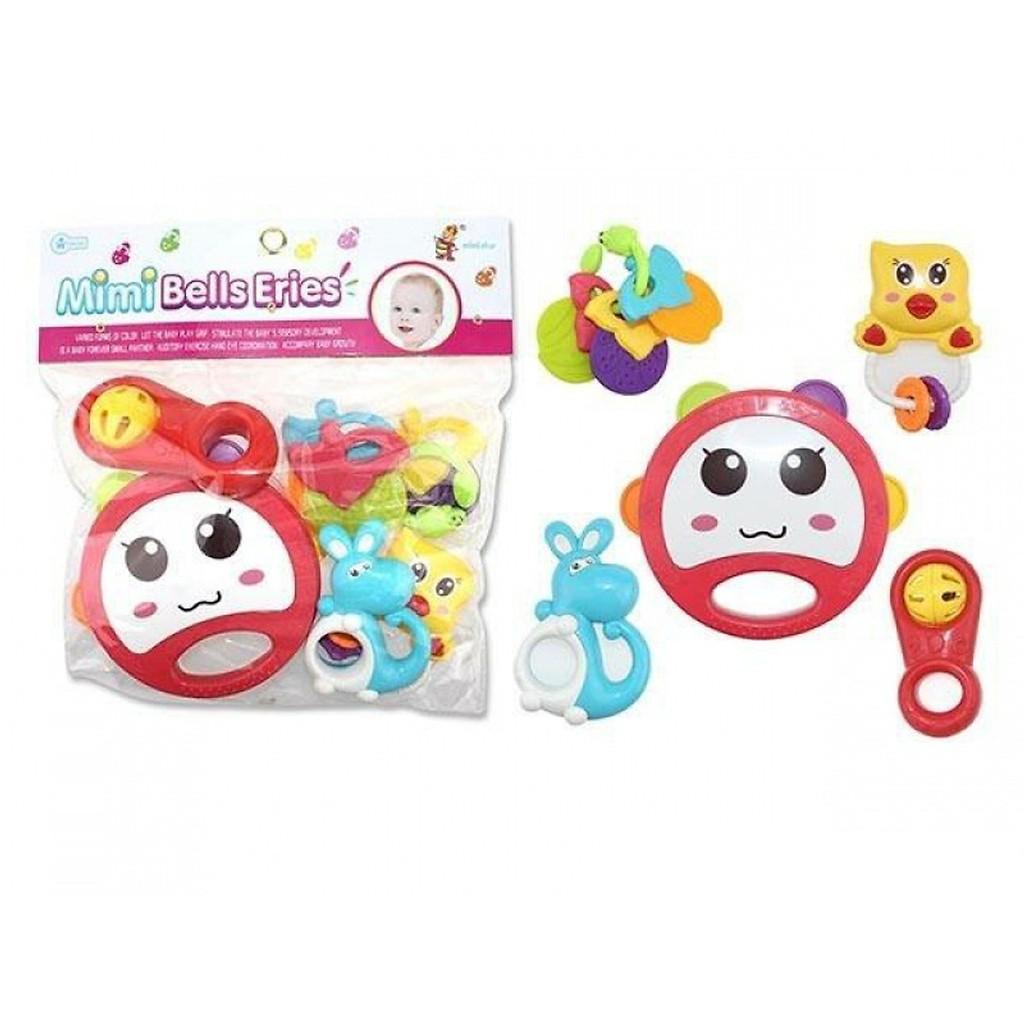 Túi đồ chơi xúc xắc 5 món Toys House 776-1 cho bé từ sơ sinh phát triển thị giác, thính giác và khả năng quan sát