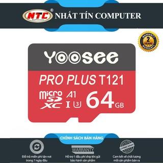 [Mã ELORDER5 giảm 10K đơn 20K] Thẻ nhớ microSDXC Yoosee Pro Plus 64GB A1 U3 4K R95MB/s W45MB/s (Đỏ)