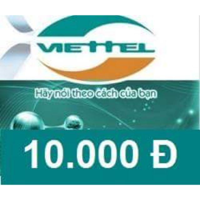 Thẻ Viettel 10k (Seri + Mã) - 2642846 , 980531365 , 322_980531365 , 10000 , The-Viettel-10k-Seri-Ma-322_980531365 , shopee.vn , Thẻ Viettel 10k (Seri + Mã)