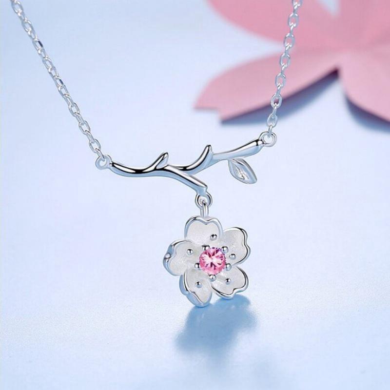 Dây chuyền nữ 30% bạc 925 liền mặt hoa đào nhụy hoa màu hồng cành lá cực xinh phong cách Nhật Bản mới DC1506HD - 21846752 , 2318436135 , 322_2318436135 , 148000 , Day-chuyen-nu-30Phan-Tram-bac-925-lien-mat-hoa-dao-nhuy-hoa-mau-hong-canh-la-cuc-xinh-phong-cach-Nhat-Ban-moi-DC1506HD-322_2318436135 , shopee.vn , Dây chuyền nữ 30% bạc 925 liền mặt hoa đào nhụy hoa