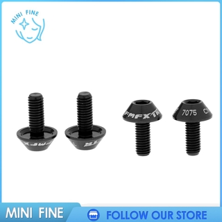 mini fine 4 Pieces Aluminum Alloy Bicycle Cycle Water Bottle Cage Bolt M5 x 12mm Screw