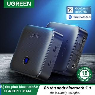 Bộ thu phát Bluetooth 5.0 aptX-HD Cao Cấp UGREEN CM144| Hỗ trợ SPDIF AUX 3.5mm và Optical
