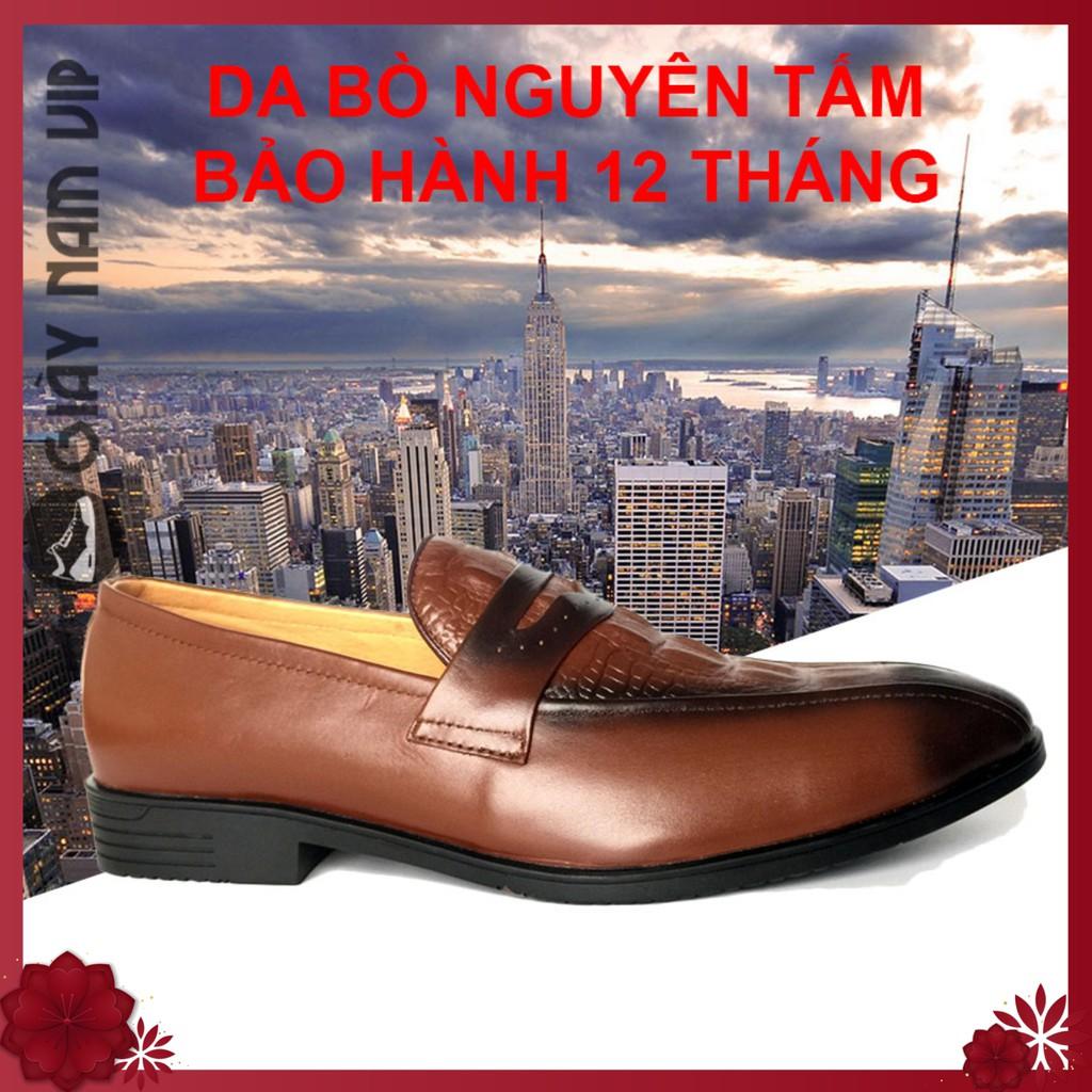 Giày Lười Nam - FREESHIP - Giày Nam Cao Cấp Penny Loafer Cách Tân GVN04