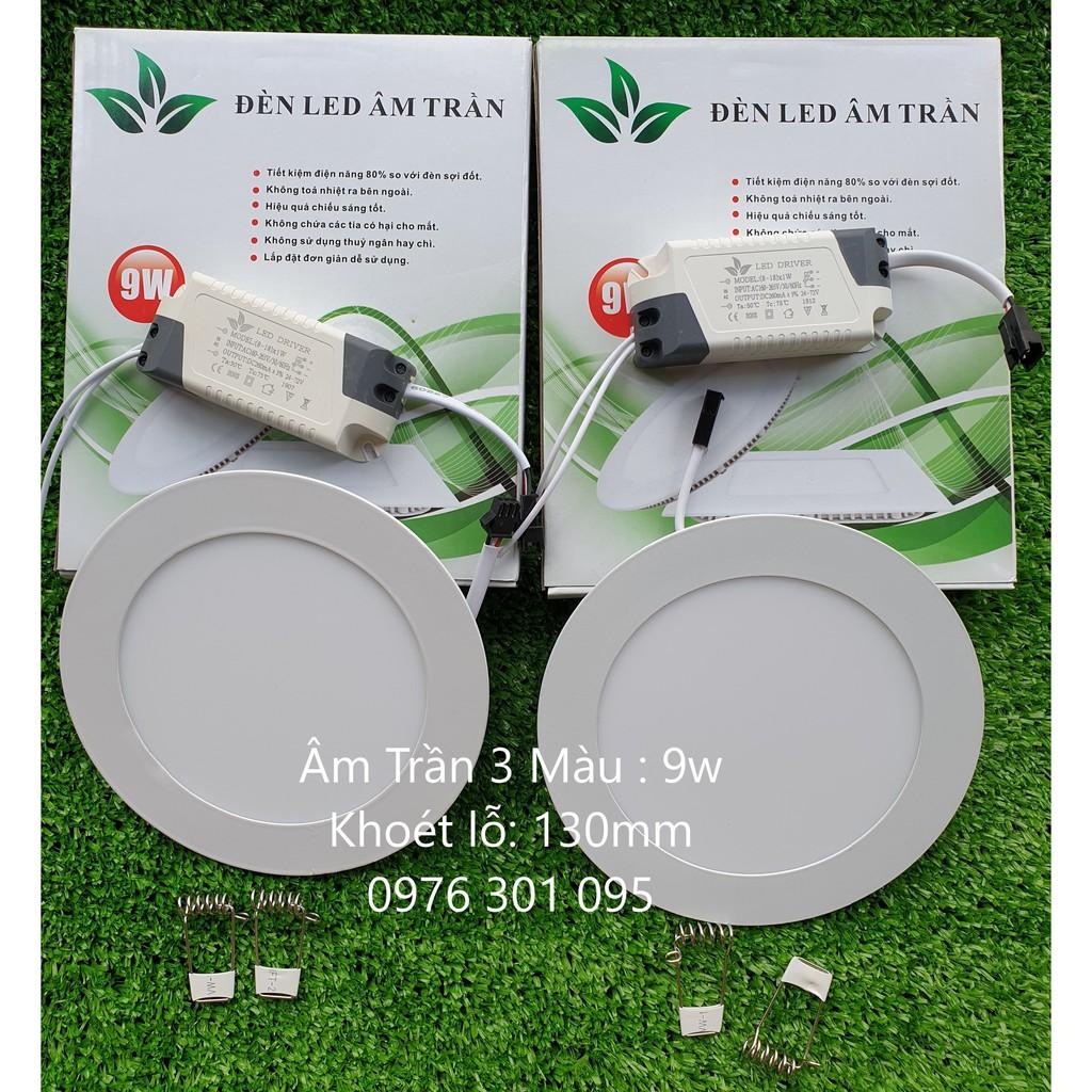 Đèn Led Âm Trần 3 Màu 6w - 9w - 12w - Đèn trần Nhãn hàng No brand