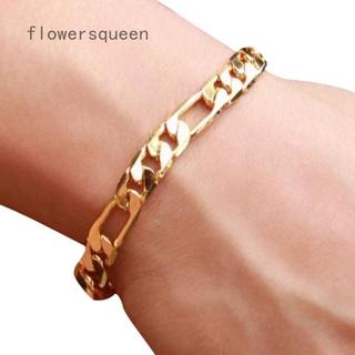 Gold Color Bracelet Club Link Chain Hip Hop Men's Fashion Chain Bracelet Jewelry Gift
