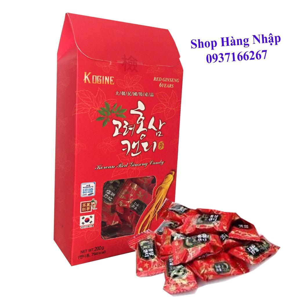 Kẹo sâm cao cấp vitamin 6 tuổi Hàn Quốc hộp giấy 200g