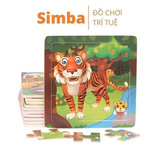 Xếp hình 9 mảnh Puzzle đồ chơi Simbaba xếp hình cho bé phát triển kỹ năng và tư duy trí tuệ thumbnail