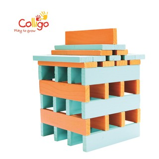 Đồ chơi gỗ Colligo bộ xếp hình 50 chi tiết 10313 O-T thumbnail