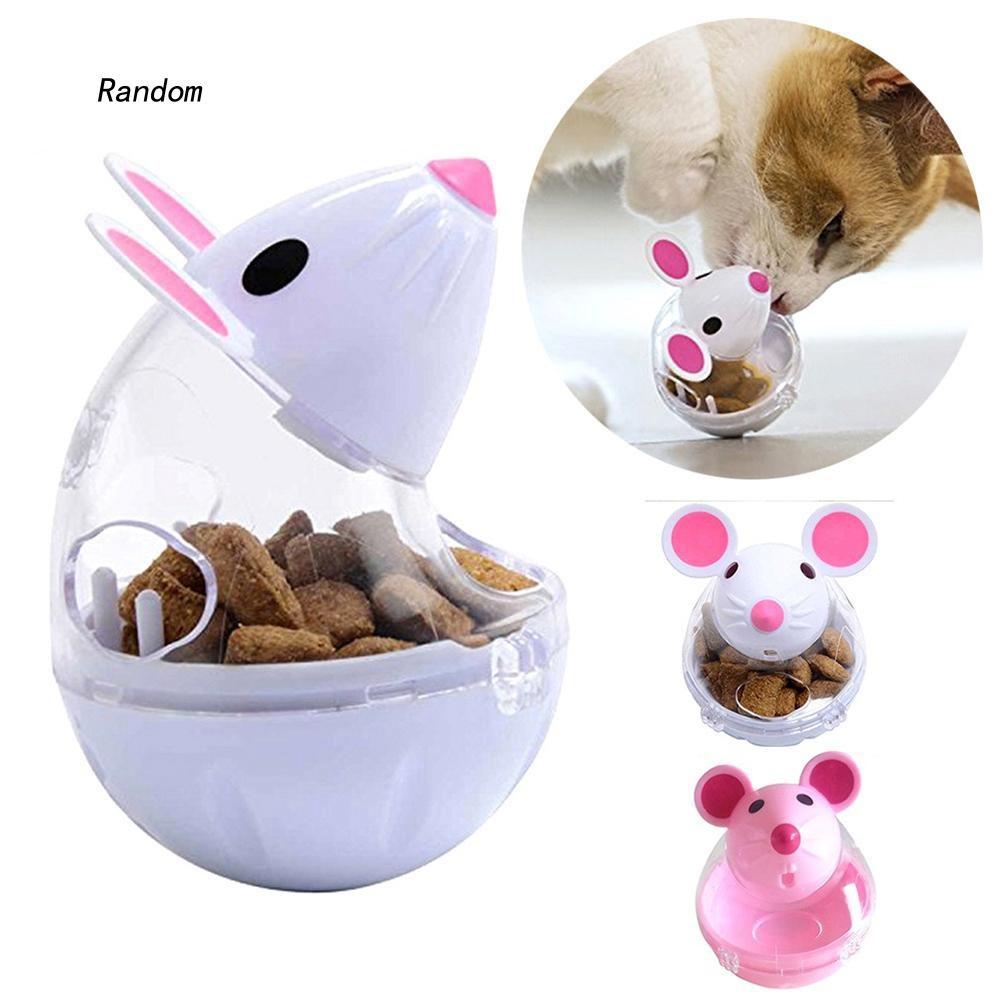 [RA]Pet Cat Kitten Mouse Shape Treat Holder Food Storage Dispenser Chew Play Toy
