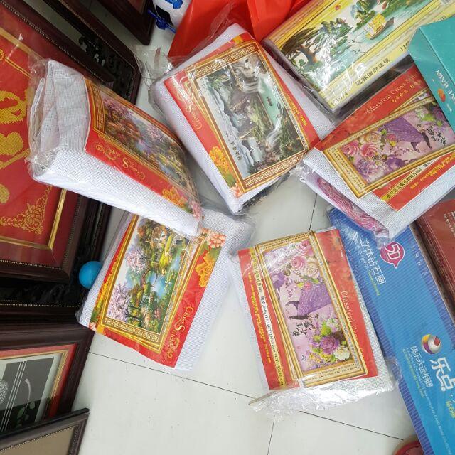 Combo tranh thêu - 3476855 , 1038860160 , 322_1038860160 , 1960000 , Combo-tranh-theu-322_1038860160 , shopee.vn , Combo tranh thêu