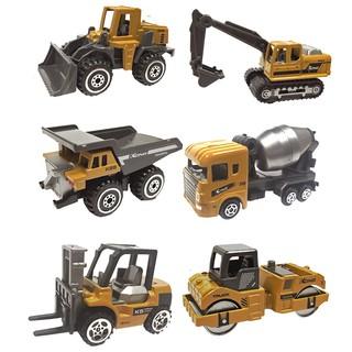 Xe công trình xây dựng bằng kim loại KAVY gồm 6 xe chi tiết sắc sảo, an toàn cho bé, có thể trang trí thumbnail