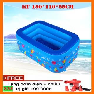 Bể bơi phao mini chính hãng YOYO 150*110*50 (tặng kèm bơm điện)