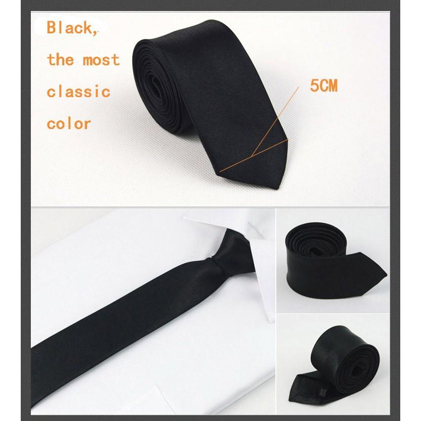 Cà Vạt Nam Bản Nhỏ 5cm Hàn Quốc - Cavat kỷ yếu, Cà vạt học sinh, Bán lẻ giá buôn