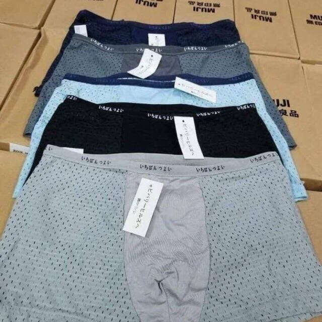 LOẠI 1 - 1 hộp 5c quần sịp đùi thông hơi Nhật kèm hộp + túi xách sang chảnh
