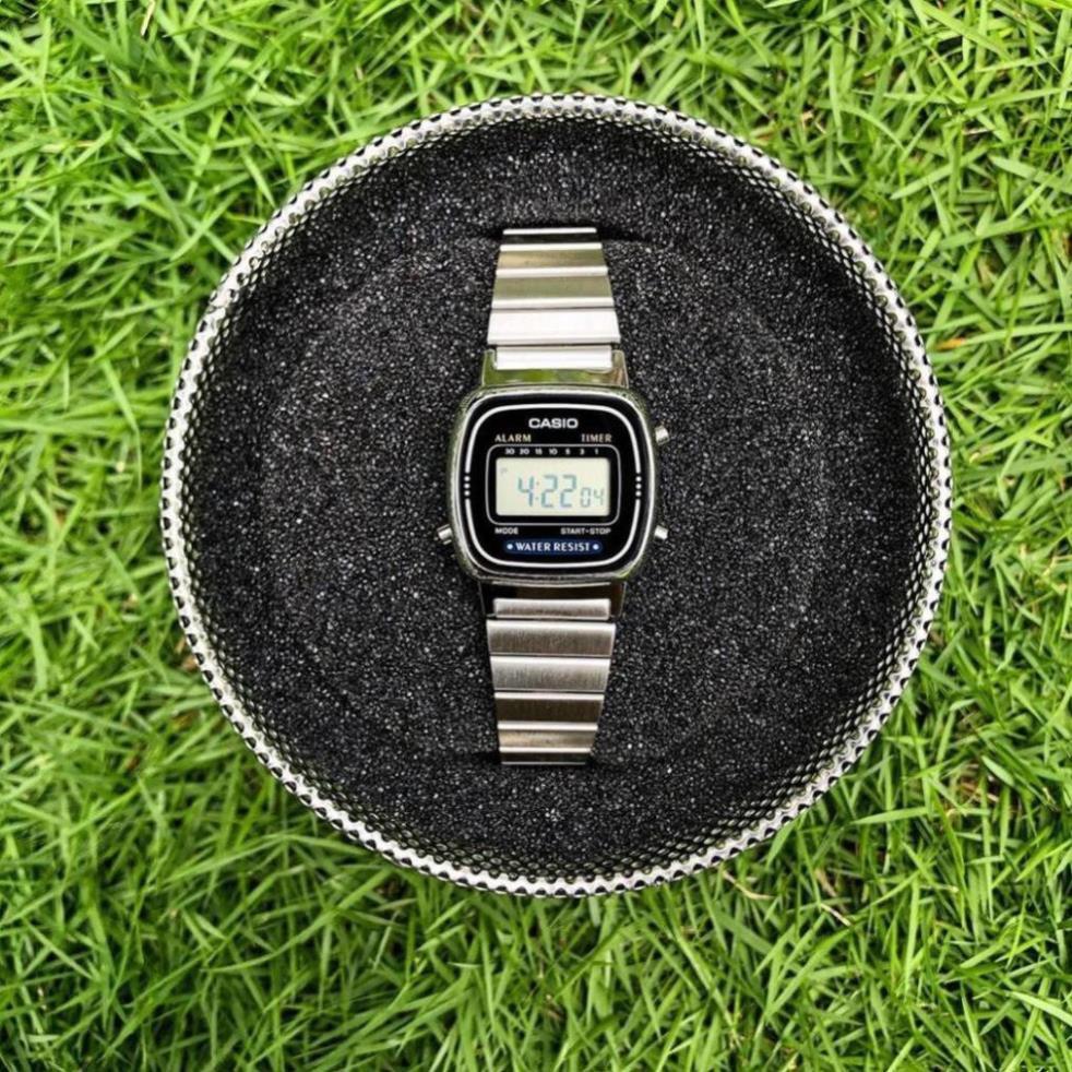 Đồng hồ nữ điện tử Casio La670 silver sang trọng , thu hút mọi ánh nhìn - full box - G7.watch
