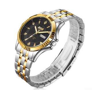 Đồng hồ nam Bosck 2 lịch dây inox không rỉ thumbnail