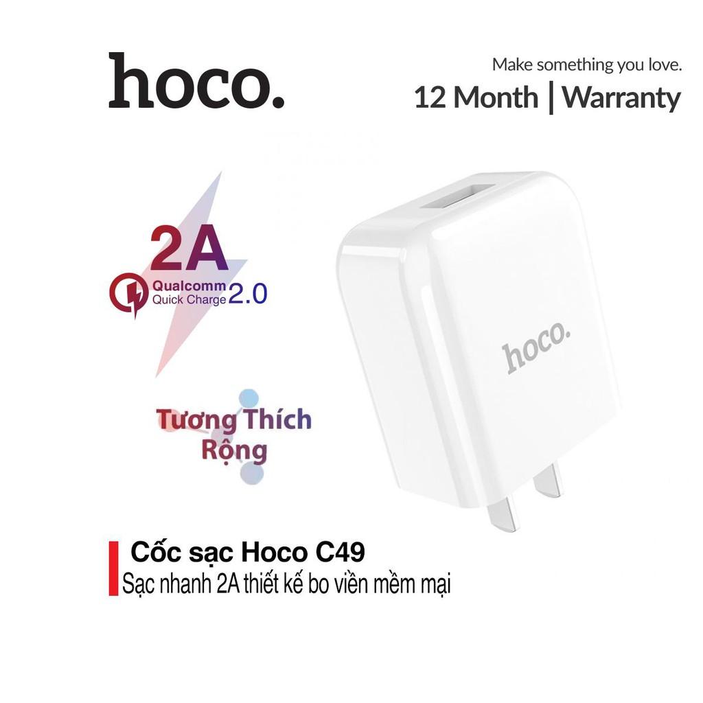 Cốc sạc Hoco C49 hỗ trợ sạc nhanh 2.0A - Tiêu chuẩn U.S