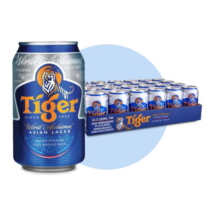 Thùng 24 lon bia Tiger nhập khẩu Hà Lan (330mlx24)