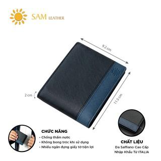 [ SAM Leather ] Ví Ngang Nam Da Bò Cao Cấp - Ví Da Nam Da Bò - Ví Nam Da Bò Thật Bảo Hành 12 Tháng Chính Hãng Xịn thumbnail