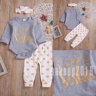 Mu♫-Best New baby girl baby cotton jumpsuit polka dot pants leggings hair band