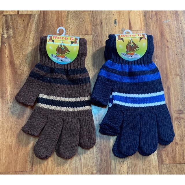 Găng tay len nam nguyên ngón-cắt 2 ngón-cắt 5