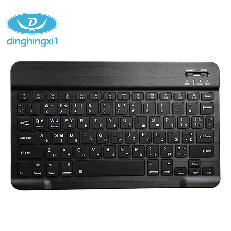 Russian Keyboard Ultra-Thin Bluetooth 3.0 Wireless Black Plastic dinghingxi1