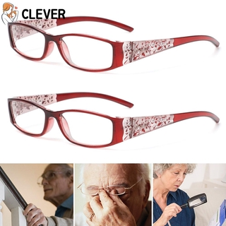 CLEVER Men Women Fashion Anti Blue Light Reading Glasses Radiation Protection Printing Eyeglasses Presbyopic Eyewear Vision Care Ultralight Anti-blue Rays Retro Classic Computer Goggles