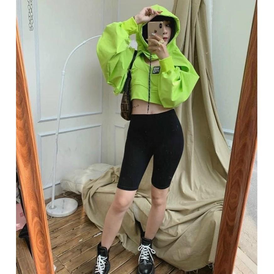 Quần legging nữ ngố siêu hot thời trang đen trơn trẻ trung dễ phối đồ cực sexy mềm mịn không xù, không lộ (40-60KG)