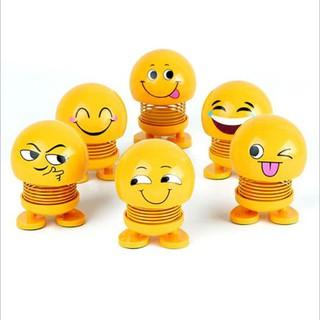 5 Con thú nhún lò xo mặt cười emoji – smiling face spring doll