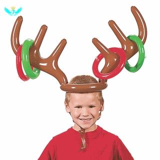 Mới Set 4 Sừng Hươu Bơm Hơi Kèm Nón Dành Cho Các Bữa Tiệc Giáng Sinh