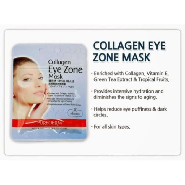 Mặt Nạ Dưỡng Mắt Collagen Purederm Eye Zone Mask 30ml