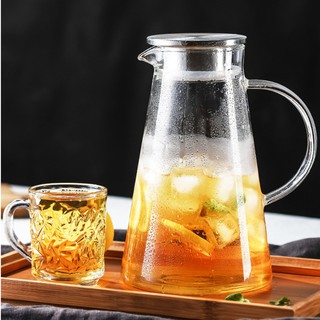 Ấm pha trà Deli  inox 1800ml,bình pha trà thủy tinh ,bình ủ trà cao cấp,bình đựng nước 1800ml