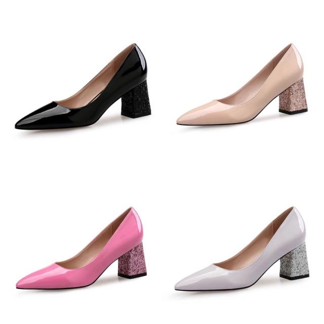 (ORDER) Giày gót vuông phối gót nhũ - da bóng (size 33-40) - 2574127 , 1156010907 , 322_1156010907 , 550000 , ORDER-Giay-got-vuong-phoi-got-nhu-da-bong-size-33-40-322_1156010907 , shopee.vn , (ORDER) Giày gót vuông phối gót nhũ - da bóng (size 33-40)