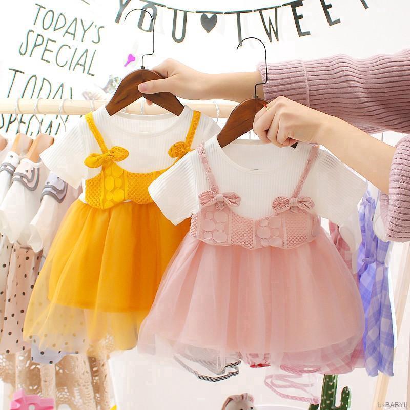 Đầm xòe công chúa phong cách Hàn Quốc xinh xắn dành cho bé gái