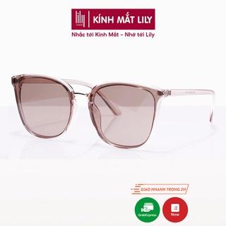 Hình ảnh [Mã FARSBR22A giảm 10% đơn 99k] Kính mát nữ Lilyeyewear chống UV400, thiết kế mắt vuông dễ đeo, màu sắc thời trang 5024-0